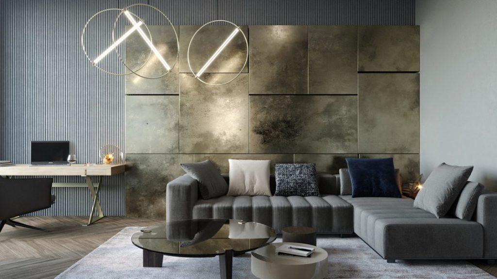 Salón clásico renovado aprovechando los espacios
