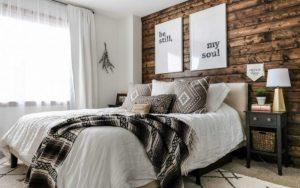 Habitacion con decoracion rustica
