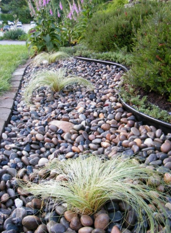 decoración de jardines con cuarzo con jardín