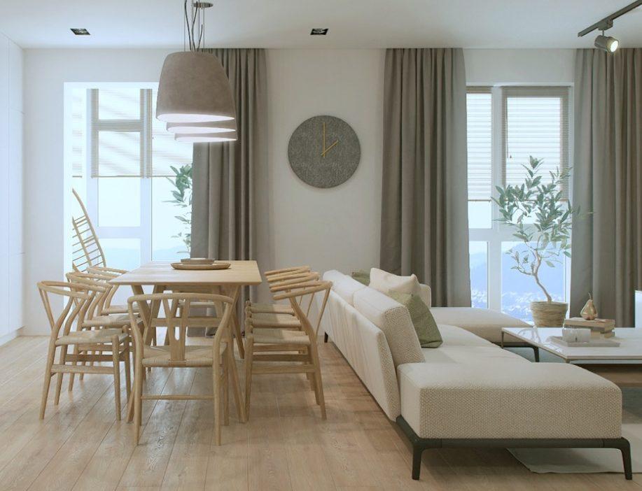 Sala comedor con elementos en madera
