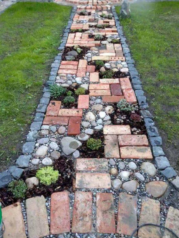 Piedras y plantas para un jardín rústico