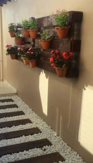 Jardín con cuarzo en vertical