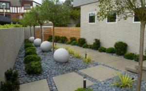 Jardín con cuarzo