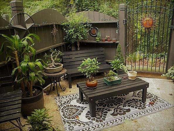 jardín ecléctico moderno