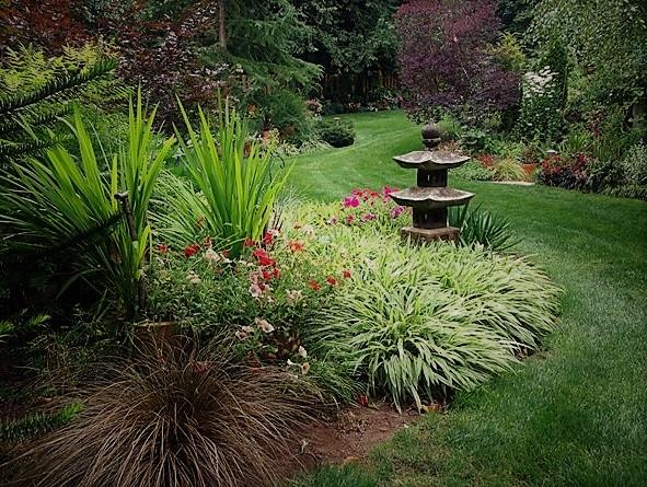 jardín ecléctico sorprendente