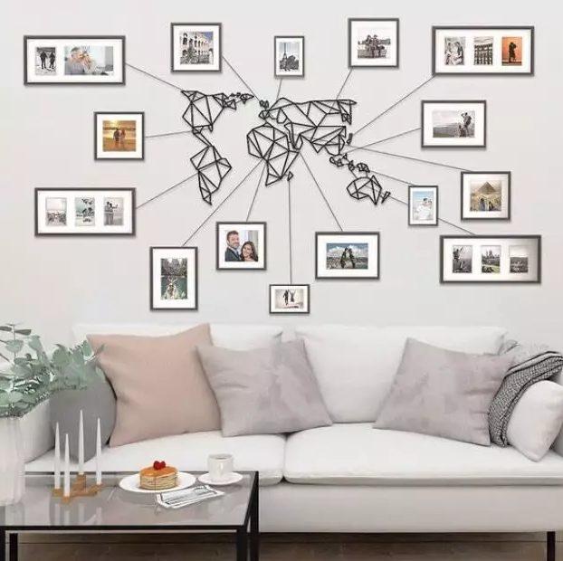 Mapa mundi para decorar una pared original
