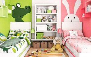 Pintar una habitación para niño y niña