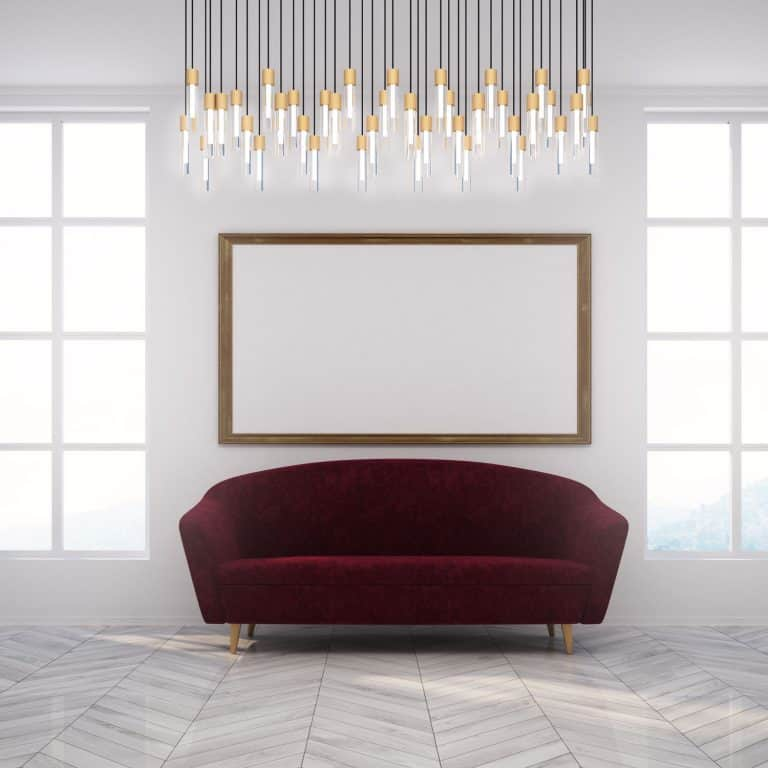 Sala De Estar Moderna Y Glamorosa Con Sofá En Burdeos