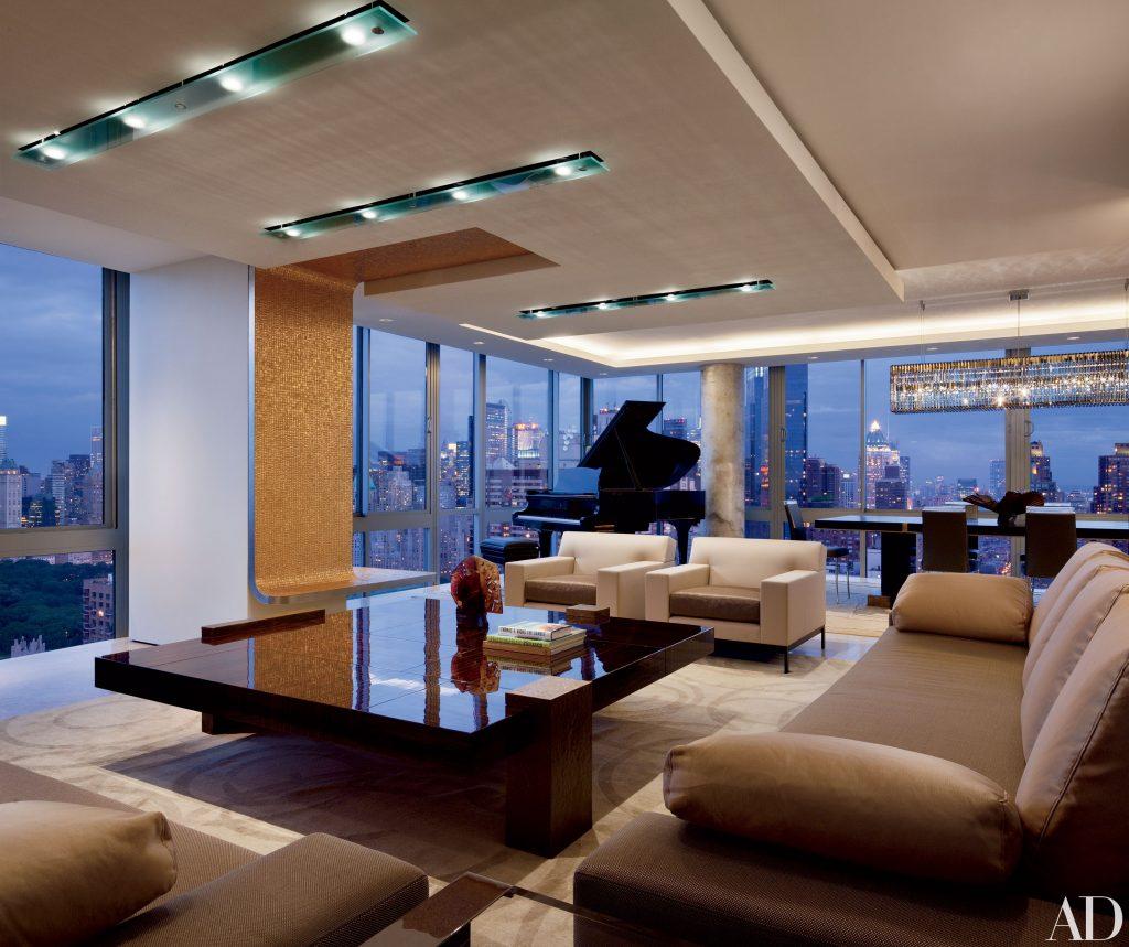 Salón moderno y lujoso venido del futuro
