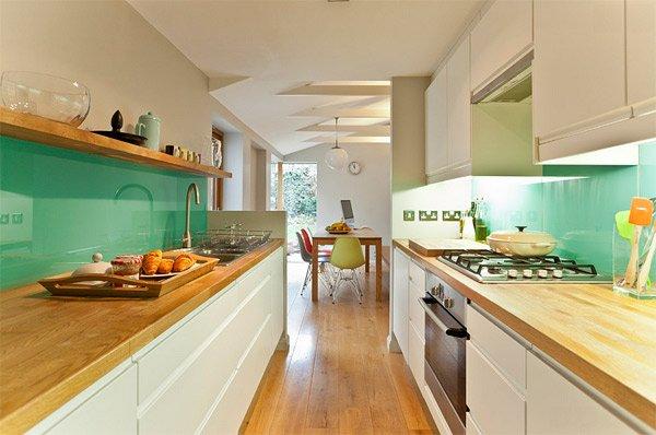 Verde brillante para el vidrio pintado de la cocina