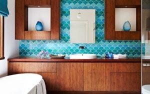 baños color turquesa