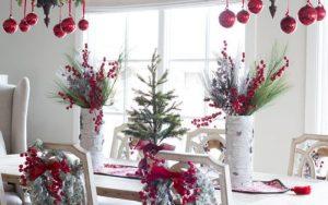 centros navideños para mesa de comedor