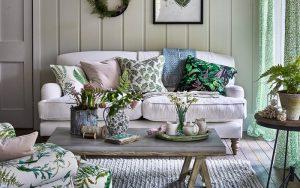 cojines verdes para el hogar