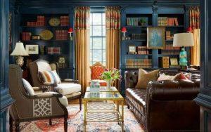colores para salones con muebles marrones