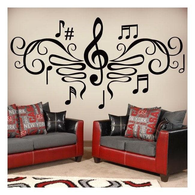 decora la pared orginal de tu salón con un vinilo enorme
