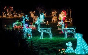 decorar jardin en navidad