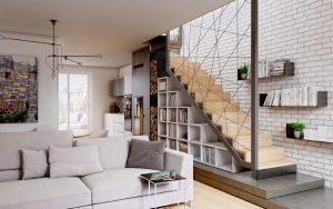 decorar las paredes de escaleras modernas