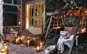 decorar patio navidad