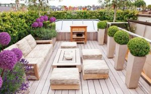 decorar una terraza minimalista pequeña