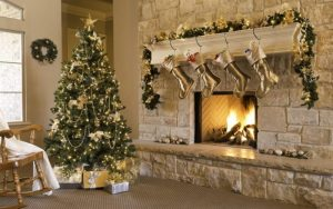salones decorados de navidad