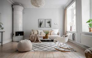 salones modernos blancos