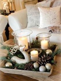 Mesas de salón Rústicas Navideñas