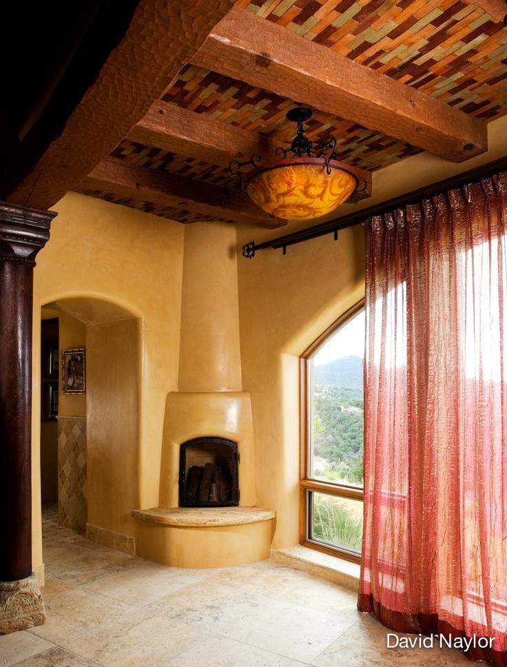 Casa rural con chimenea calida
