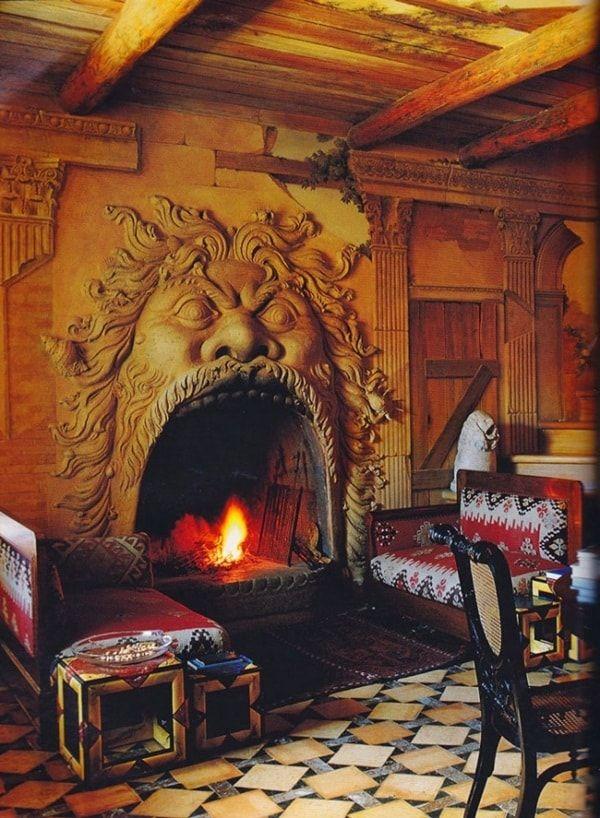Casa rural con chimenea fascinante
