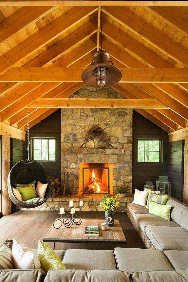 Casa rural con chimenea y delicada