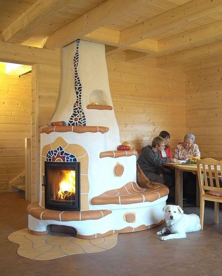 Casa rural con chimenea divertida