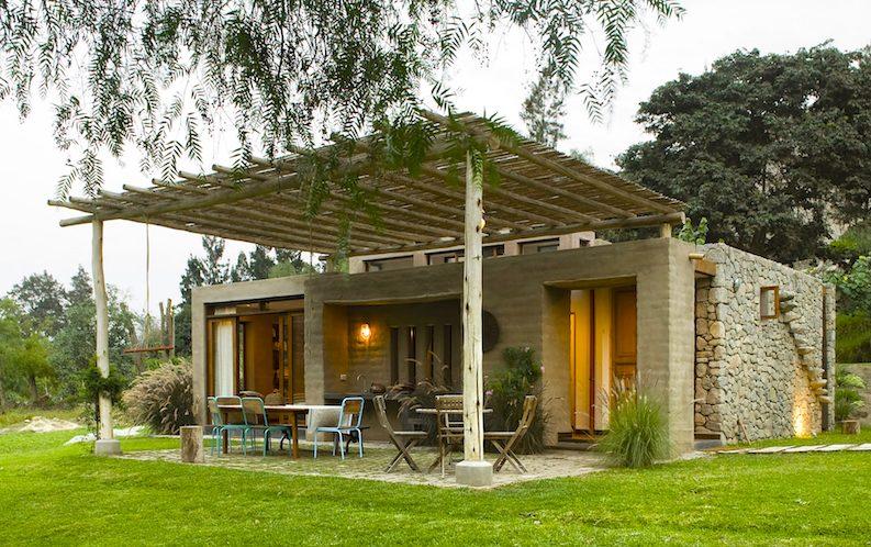 Casas planta baja modernas estilo rústico