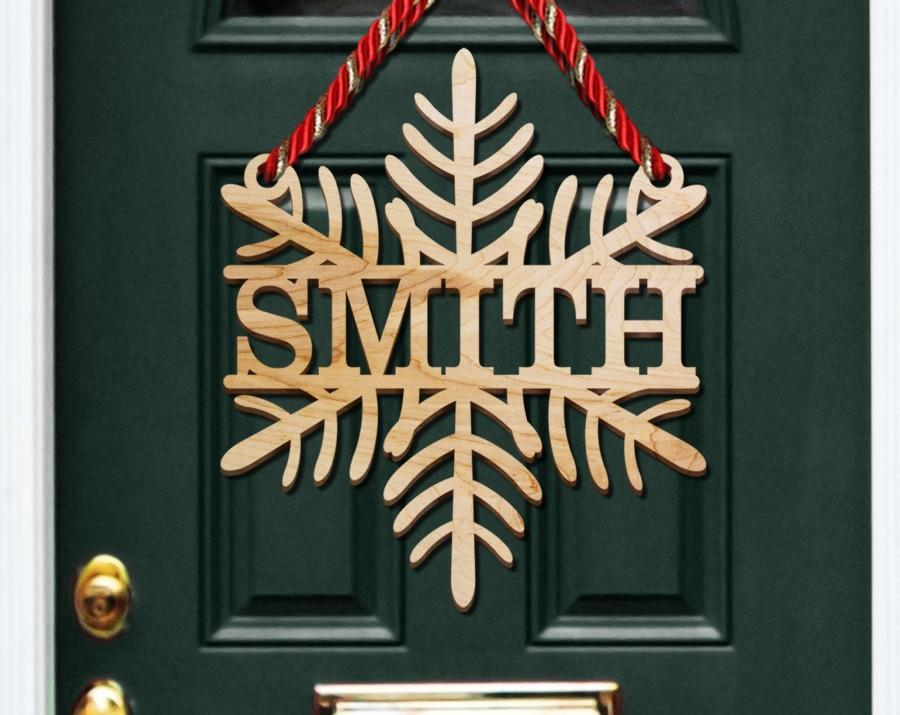 Colgantes Personalizados para puertas navideñas rústicos