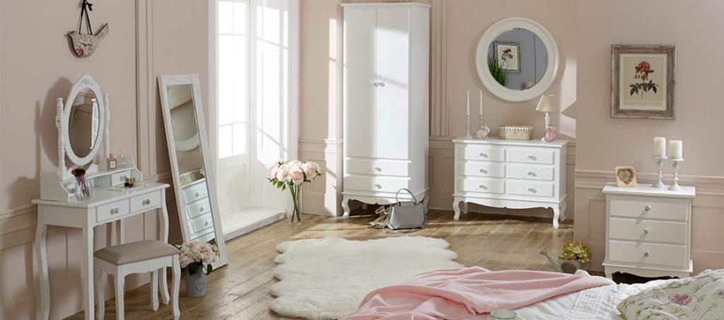 Dormitorio blanco Girly Vintage