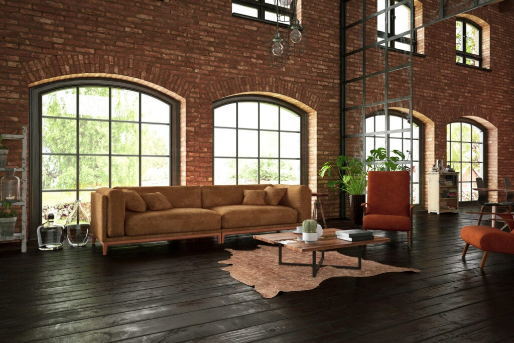 decoración Industrial muy barata con madera