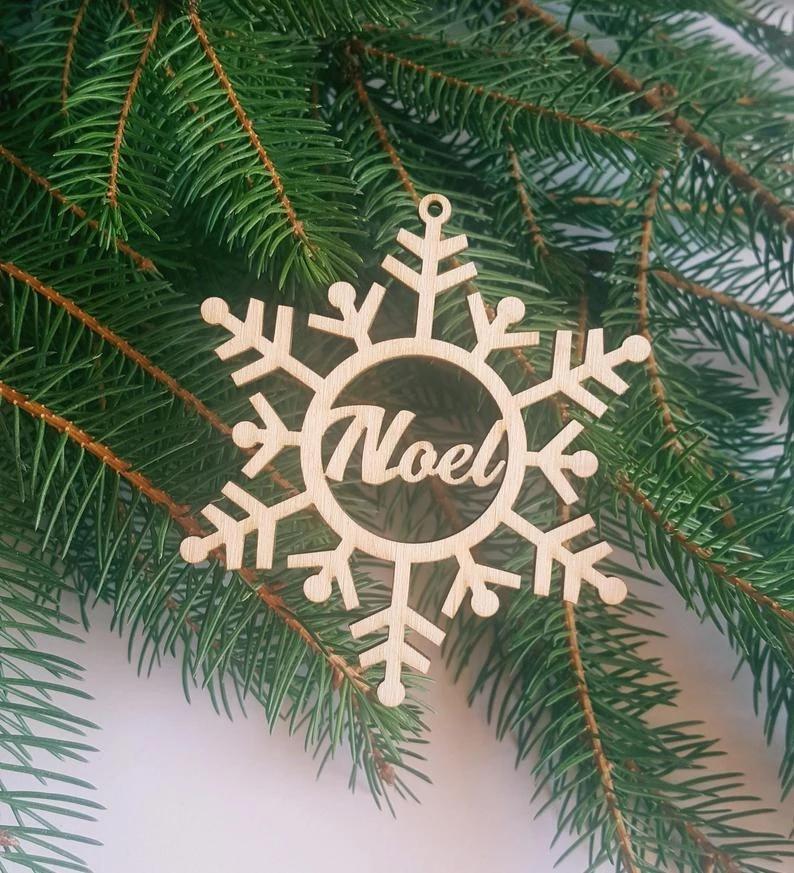 Colgantes Personalizados rústico para el árbol de navidad