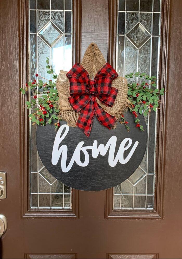 Pizarras y Mensajes navideños para la puerta rústica