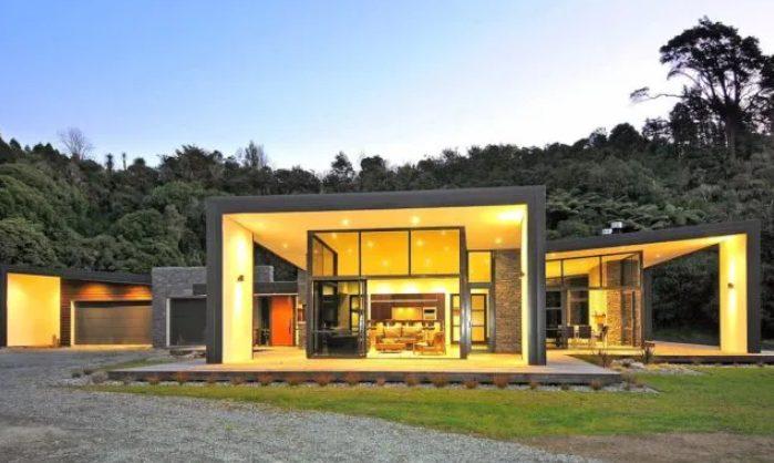 Casas planta baja modernas de diseño abierto