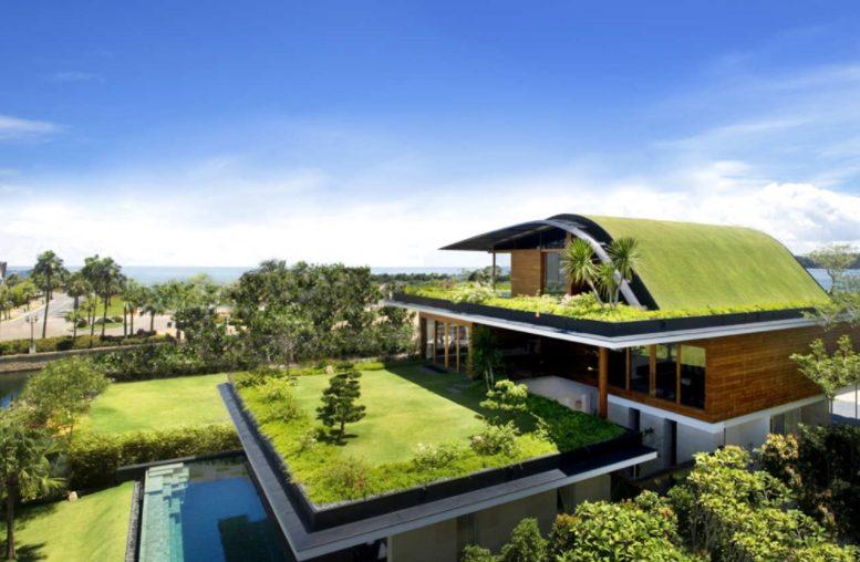 Casa grande moderna eco friendly