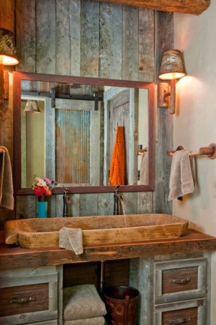 baños pequeños rústicos tradicional