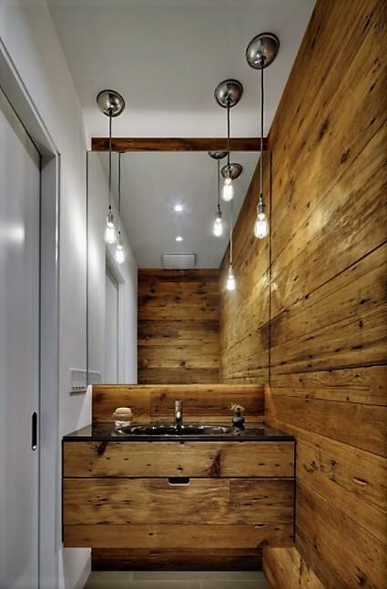 baños pequeños rústicos equilibrado