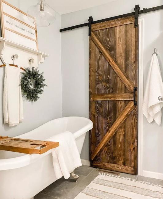 baños pequeños rústicos farmhouse