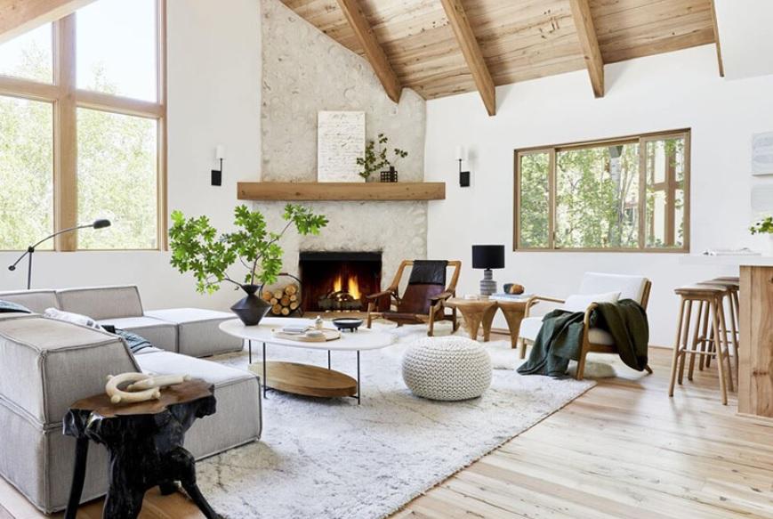 casa de campo rústica al estilo escandinavo