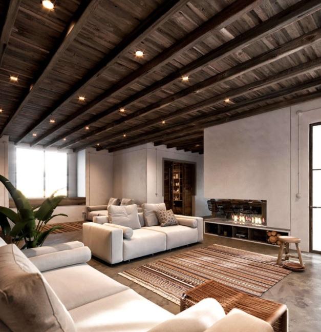 casa de campo rústica al estilo minimalista