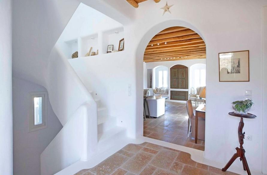 Casas griegas mediterráneas super acogedoras