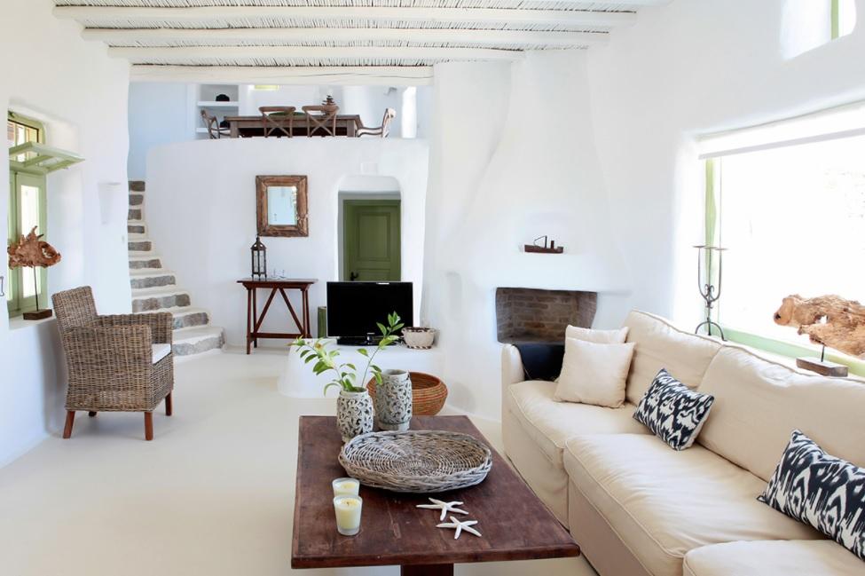 Casas mediterránea griega playera