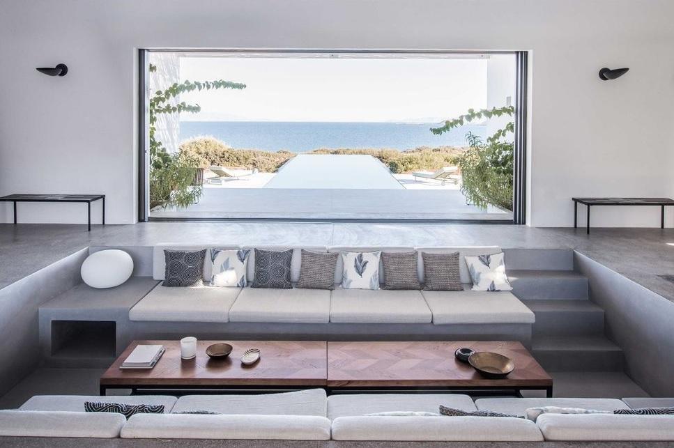 casas estilo mediterráneo griego luminosa