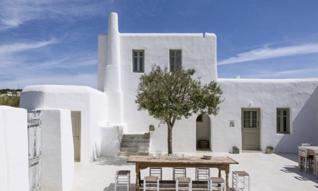 casas estilo mediterráneo griego tradicional
