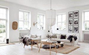 Casas modernas con interiores blancos