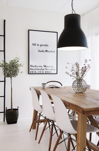 Comedor estilo nórdico industrial elegante