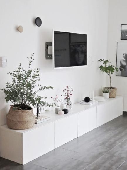 Decoración nórdica barata con plantas